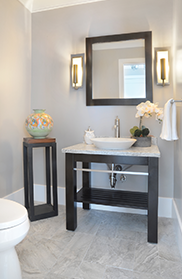 Modern vanity for bathroom remodel by Guidarelli Building and Design, NY Capital Region