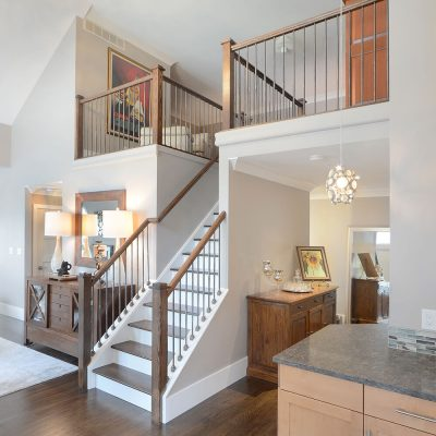 Staircase in custom home by Guidarelli, NY Capital Region