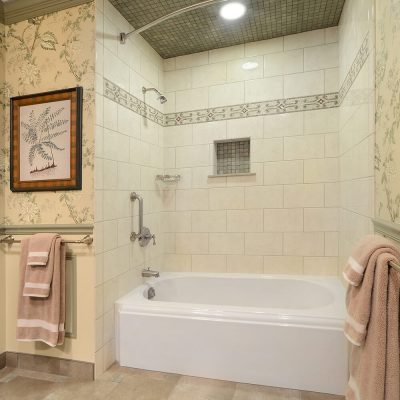 Soaking tub in NY Capital Region Bathroom Remodel